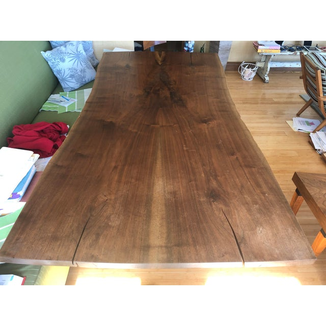 Ralph Pucci Scandinavian Modern Ralph Pucci Walnut Wood Dining Table For Sale - Image 4 of 8