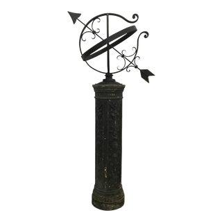 Cast Iron Pedestal With Armillary
