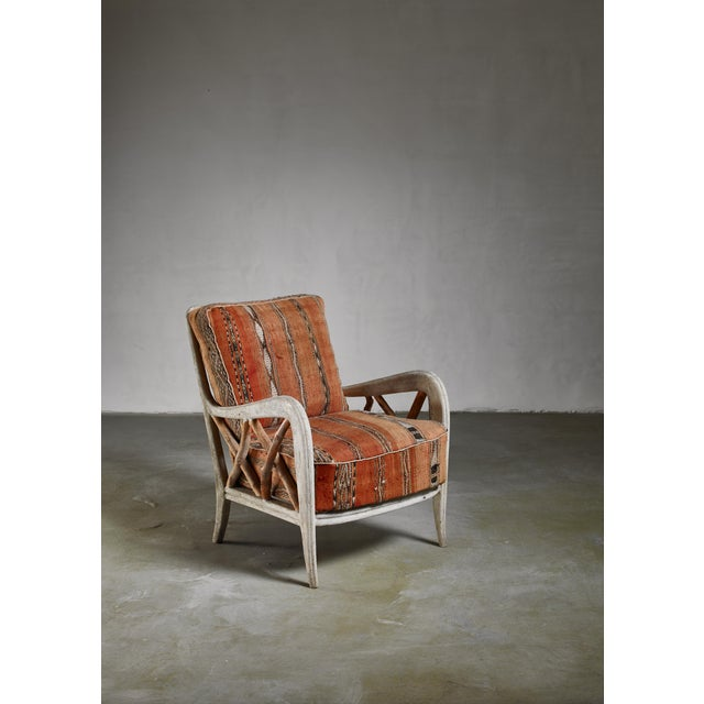 Textile Guglielmo Ulrich Chair, Italy, 1940s For Sale - Image 7 of 7