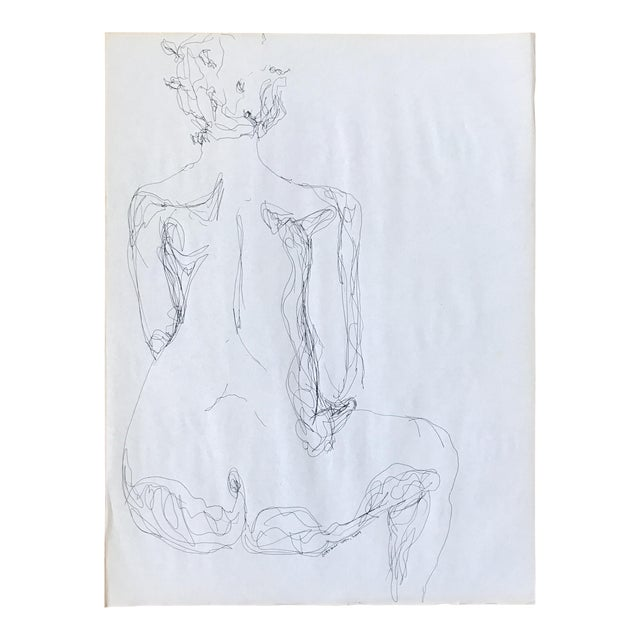 Backside Figurative Drawing For Sale