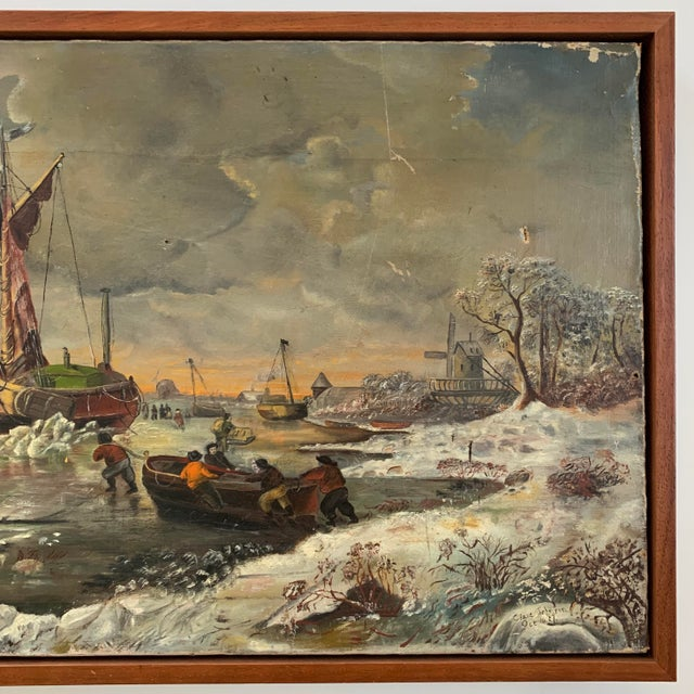 Canvas 1887 Antique C. Johnson Oil on Canvas Painting For Sale - Image 7 of 12