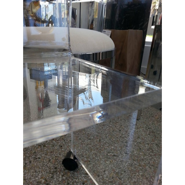 Acrylic Mid-Century Modern Lucite Vanity Chair For Sale - Image 7 of 11