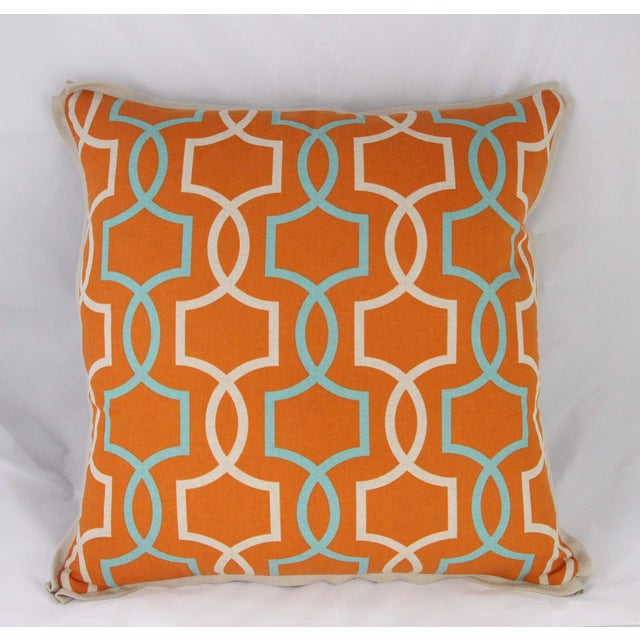 Orange Casey Linen Pillow - Image 2 of 7