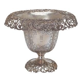 Centerpiece, 1914 Large Sterling Silver Vase For Sale