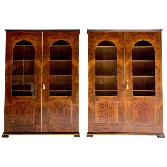 Tomaso Buzzi Burr Walnut Display Cabinets Bookcases, Italy, circa 1929 - A Pair For Sale - Image 12 of 12