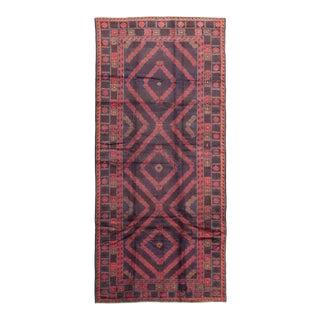 "Vintage Tribal Afghan Rug, 5'5"" X 12'7"" For Sale"