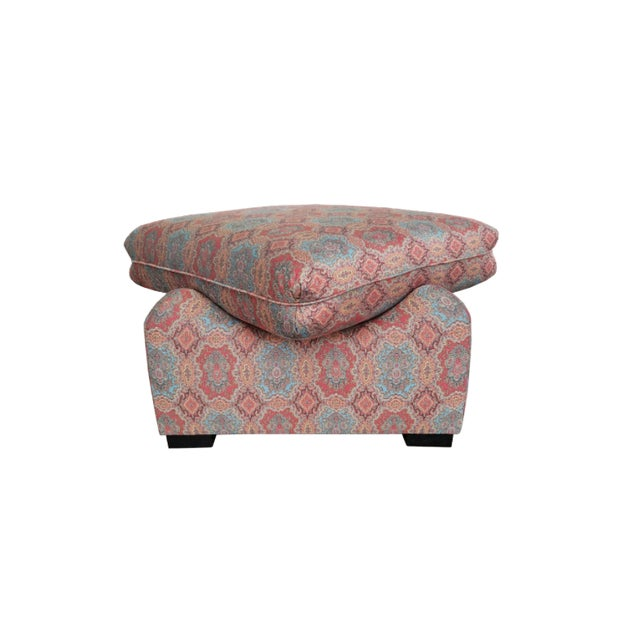 Mid-Century Modern The Sara Ottoman For Sale - Image 3 of 3