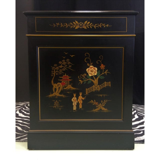 """""""Chinoiserie Kneehole Parsons Sligh-Lowry Desk"""" For Sale - Image 10 of 11"""
