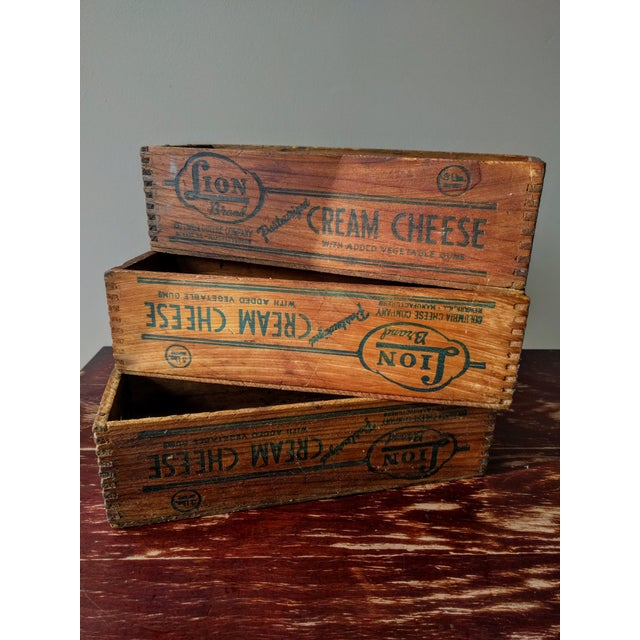 Vintage Wooden Cheese Boxes - Set of 3 For Sale In New York - Image 6 of 10