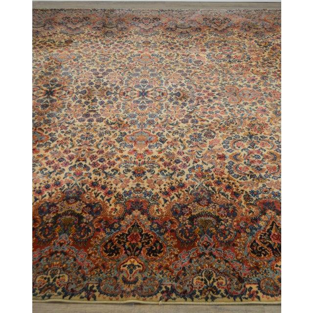 Karastan 10'x16' Kirman Vintage Large Room Size Carpet Rug #759 For Sale In Philadelphia - Image 6 of 13