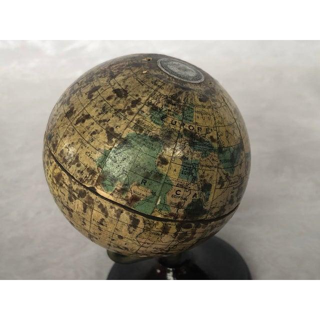 Metal Vintage World Desk Globe Die Cast Metal Bank For Sale - Image 7 of 13
