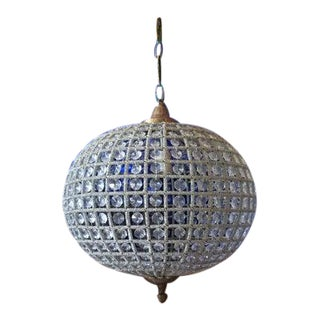 French Style Large Sphere Chandelier in Silver