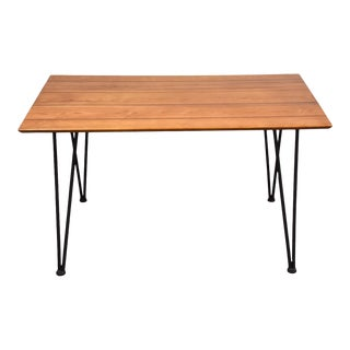 Lee Woodard Small Iron Dining Table For Sale