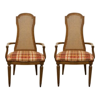 Drexel Furniture Italian Neoclassical Dining Arm Chairs - a Pair For Sale