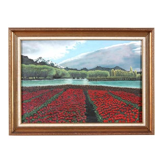 Gilt Wood Framed Oil / Canvas Still Life Painting For Sale
