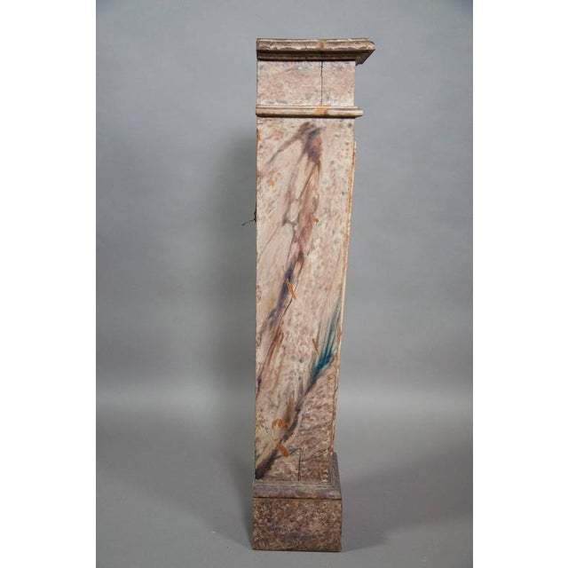 European Faux Marble Wood Pedestal For Sale - Image 4 of 8