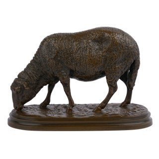 Antique French Bronze Sculpture of Sheep by Rosa Bonheur, 19th Century For Sale