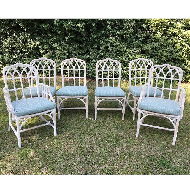 McGuire Bamboo Chinese Chippendale Chairs - Set of 6 For Sale - Image 13 of 13