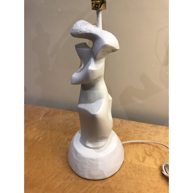 Plaster Abstract Feminine Figure Lamp For Sale In San Francisco - Image 6 of 8