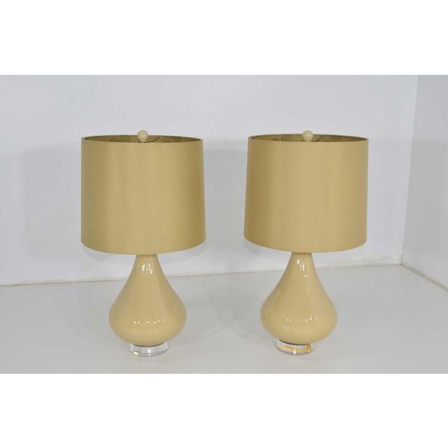 Ceramic Ceramic Lamps - A Pair For Sale - Image 7 of 7
