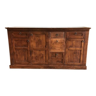 Rustic Wood Buffet/Bar Station For Sale