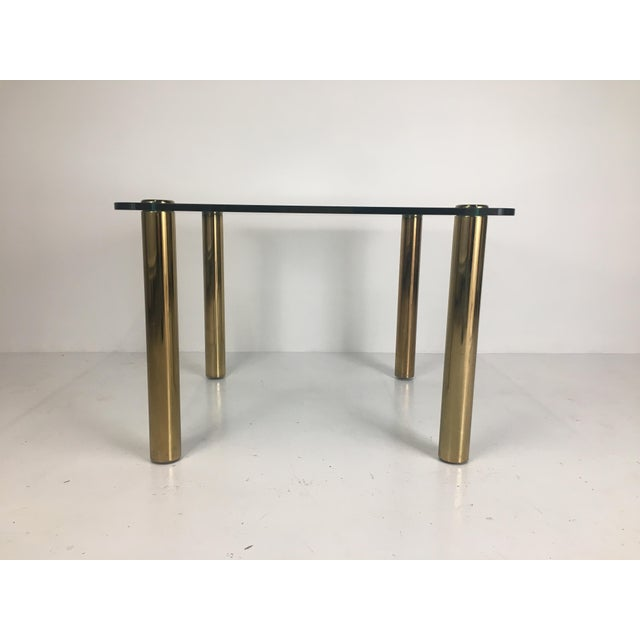 Regency Regency Pace Collection Brass and Glass Dining or Games Table For Sale - Image 3 of 13
