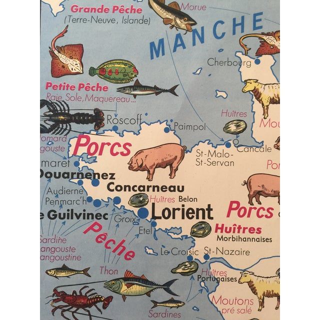 Paper Vintage French Regional Food Poster For Sale - Image 7 of 10