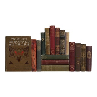 Antique Earthtone Poetry - Set of 16 For Sale