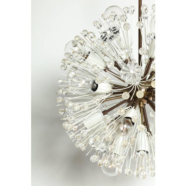 """1950s Emil Stejnar """"Snowball"""" Brass and Hand Cut Crystal Hanging Pendant For Sale - Image 6 of 10"""