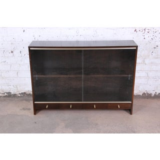"Paul McCobb for Calvin ""Irwin Collection"" Mahogany Glass Front Cabinet or Bookcase Preview"