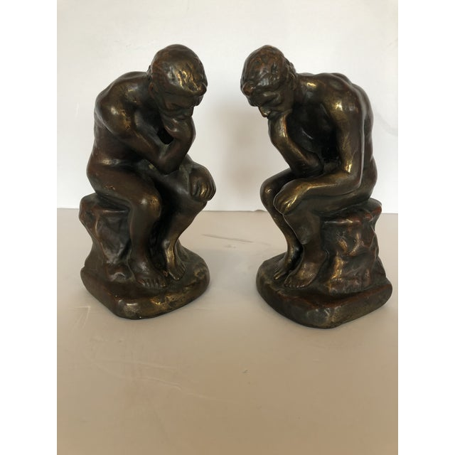 Bronze Clad Male Nude Bookends For Sale - Image 13 of 13