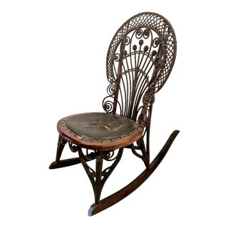1900s Vintage Heywood Wakefield Rocking Chair For Sale