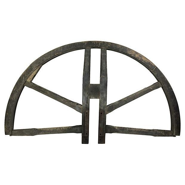 1800s English Church Bell Tower Wheel - Image 1 of 3