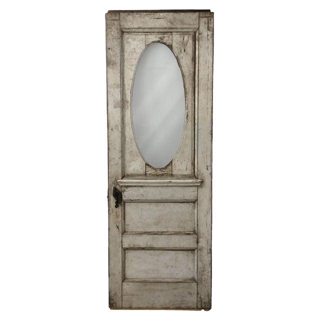 Antique Beveled Glass & Wooden Door - Image 1 of 10