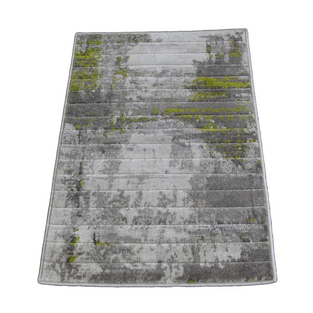 Green Abstract Rug - 1′8″ × 2′6″ - Image 1 of 4