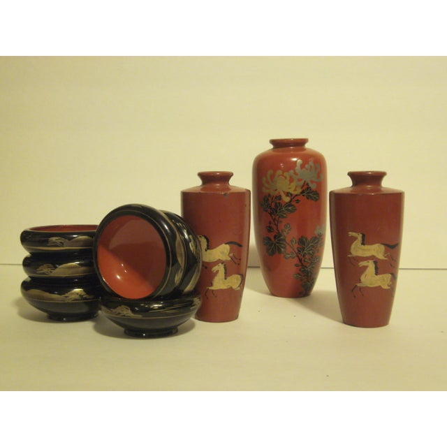 Antique & Vintage Japanese Lacquer-Ware - 9 - Image 2 of 11