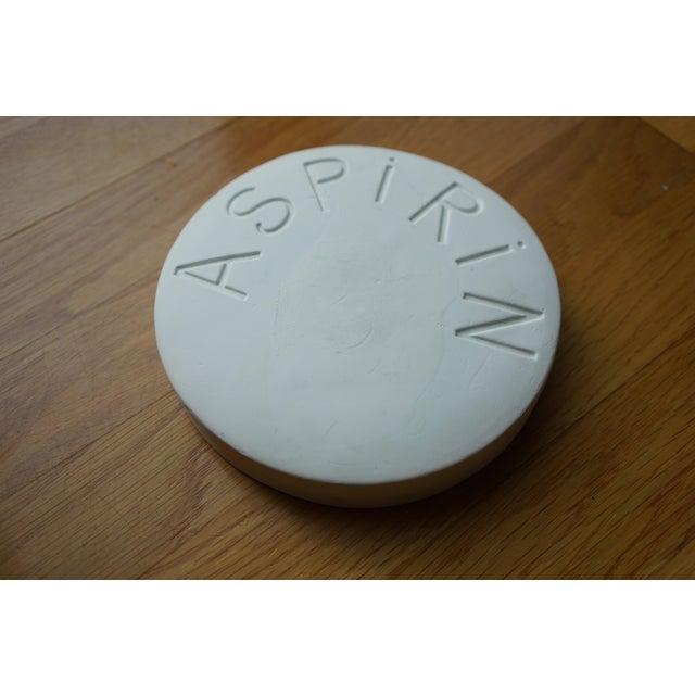 Modern Vintage Mid Century Plaster Aspirin Paperweight For Sale - Image 3 of 10