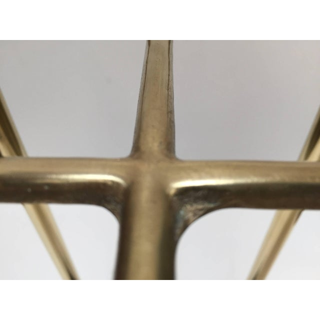 Victorian Polished Brass and Cast Iron Umbrella Stand Valet For Sale In Los Angeles - Image 6 of 9