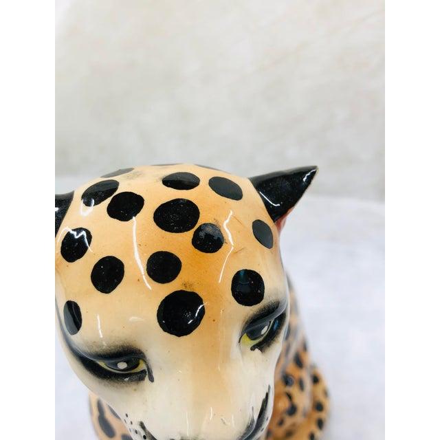 1970s Ceramic Cheetah Figurine For Sale - Image 6 of 9