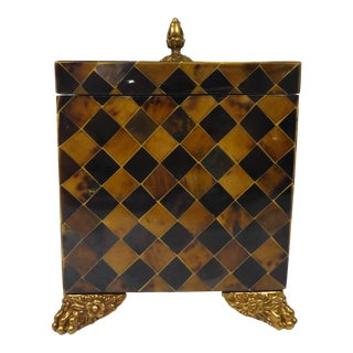 Maitland Smith Tessellated Horn Box For Sale