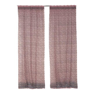 """Naaz 45"""" X 84"""" Dusty Pink Curtain For Sale"""