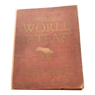1952 Vintage Rand McNally 1st Edition Premier World Atlas Library of Congress Map