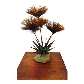Steck Curtis Jere Style Alfred Steck Mid-Century Modern Pom Pom Brutalist Modernist Brass Urchin Spore Spray Sculpture For Sale
