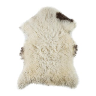 "Contemporary Natural Wool Sheepskin Pelt -2'3""x3'4"" For Sale"