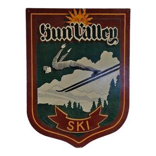 Vintage Sign 'Sun Valley Ski' For Sale