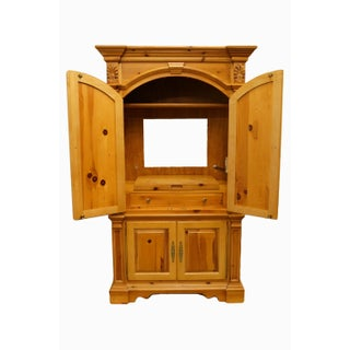 """20th Century French Country Lexington Furniture Solid Pine 48"""" Tv Media Armoire Preview"""