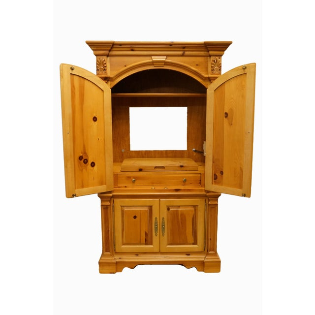 "Lexington Furniture solid pine country french 48"" tv media armoire. We specialize in high end used furniture that we..."