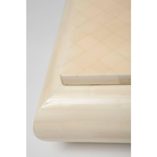 Wood Large Alberto Escobar Tessellated Bone Box, Circa 1980 For Sale - Image 7 of 11