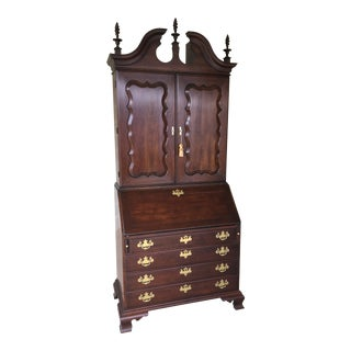 Statton Old Towne Solid Cherry Chippendale Style Secretary Desk