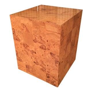 Midcentury Milo Baughman for Thayer Coggin Burled Pedestal/Side Table For Sale
